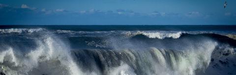 photo of Crashing waves on the California coast