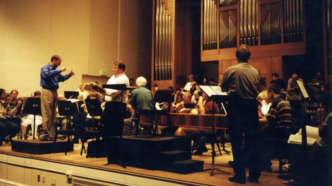 photo of James conducting at Oregon Bach Festival