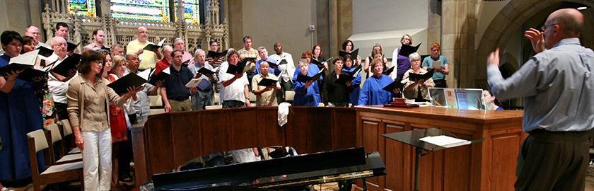photo of Coventry Choir in rehearsal