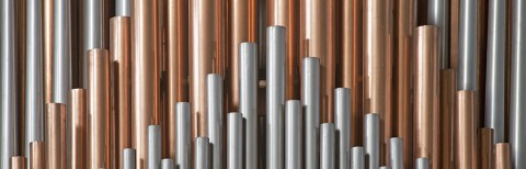 photo of organ pipes