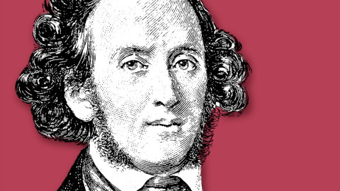 illustration of Felix Mendelssohn