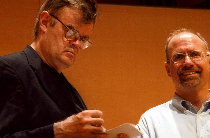 Coventry Choir sings with Garrison Keillor, LA Philharmonic, Pasadena Presbyterian Kirk Choir in Disney Hall