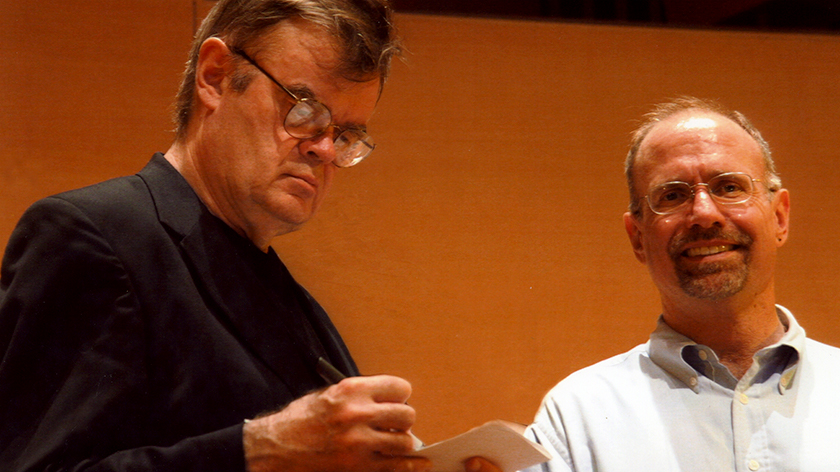 photo with Garrison Keillor at the LA Phil