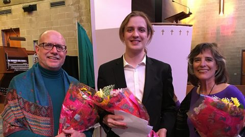 photo of James Walker, Competition Winner Samuel Buse, Cherry Rhodes