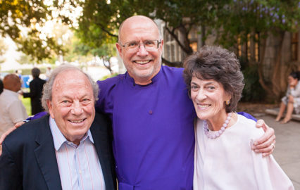 photo of James with George and Mary Regas